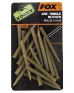 Fox Edges Anti Tangle Sleeves x 25 - trans khaki