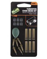 Fox Edges Tungsten Chod Bead Kit x 6 beads / buffer sleeves