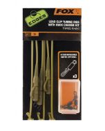 Fox Edges Trans Khaki Tubing Leadclip Rigs x 3 inc Kwik Change Kit