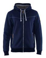 Hooded Sweatshirt met rits Blauw