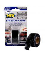 Stretch and Fuse Reddingstape - 25mm x 3M, zwart