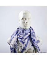 Sjaal PLO Blauw /wit