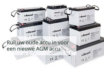Oude accu omruilen voor een nieuwe AGM accu