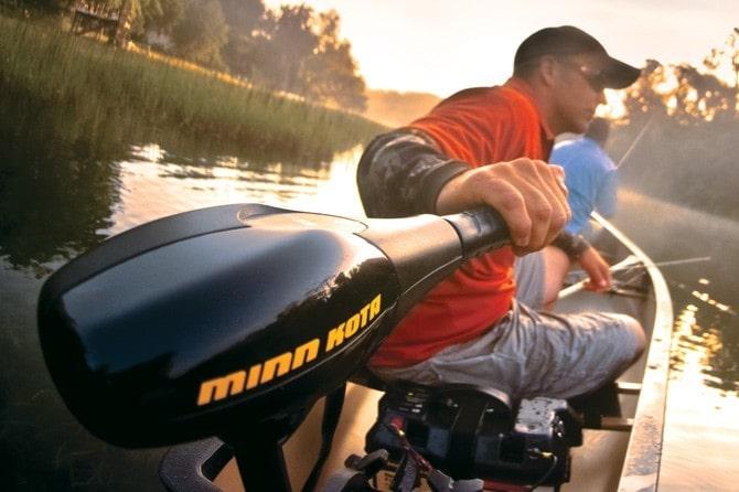Minn Kota motor op boot